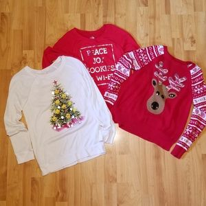 JUSTICE   bundle of three holiday shirts